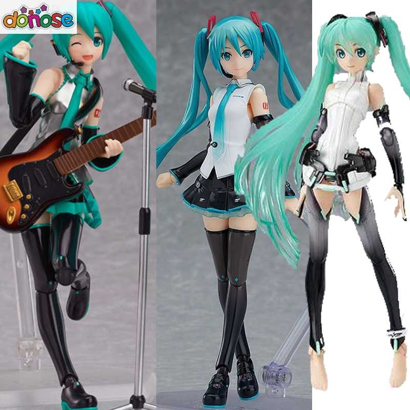 Figma Hatsune Miku Figma 394 Character Vocal Series 01 V4X 200/100/014 PVC Action Figure Collectible Modelo brinquedo