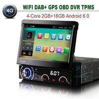 7 1 DIN Car CD Player 4G GPS Navigation Bluetooth Wifi Autoradio DAB OBD TPMS DVR