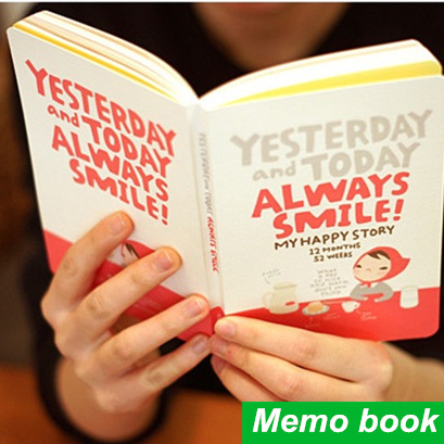 4 pcs/Lot Cute girl notebook agenda Diary book Yearly planner journal record stationery office School supplies F451 1pc kawaii and cute notebook paper lovely red hat girl agenda week day planner journal record stationery office school supplies