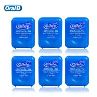 Oral B Multi protection Floss Waxed Dental Floss Gum Care Oral Hygiene Flat Thread Flosser Cool Mint 43.7yd/40m (6 pcs=1 pack)