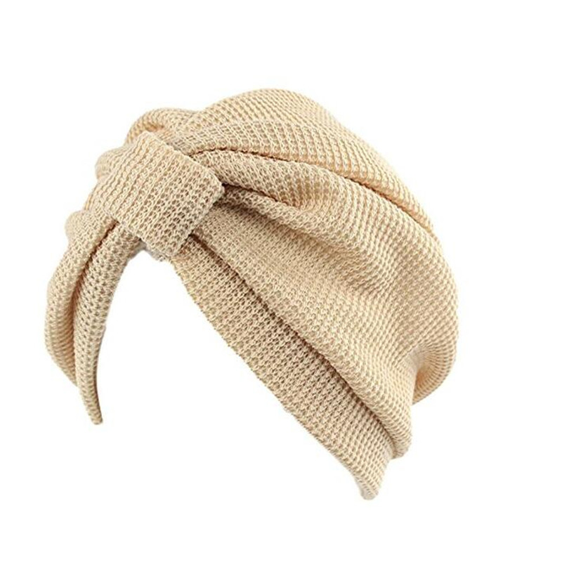 2017 New Stretchy Indian Arabic Turban Hat Fashion Solid