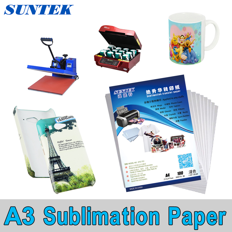 US 100Sheets A4 Sublimation Iron On Inkjet Print Heat Transfer Paper