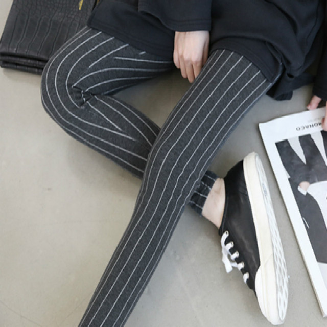 Весна осень материнства брюки Чистый цвет полосатые гетры Моды живот беременной женщины брюки могут быть скорректированы