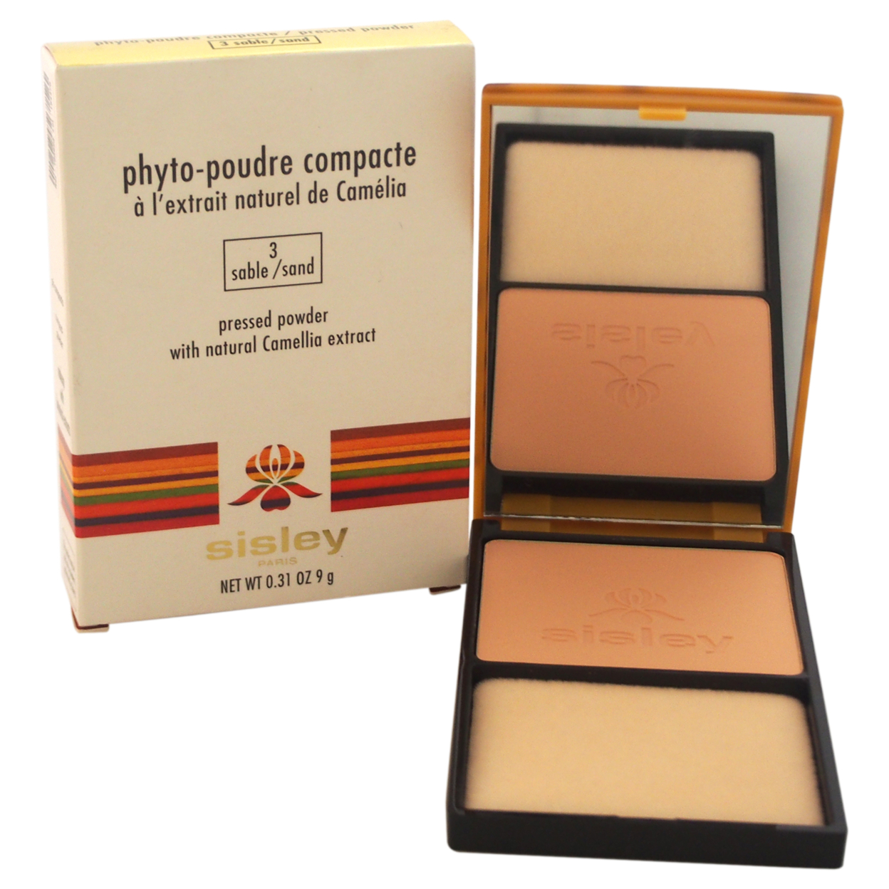 Phyto-Poudre Compacte Pressed Powder - # 3 Sable / Sand by Sisley for Women - 0.31 oz Powder spirulina pacifica powder 16 oz multi pack