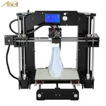 Anet A6 Semillero De Aluminio Tamaño 220*220*250mm Reprap Impresora 3D Prusa i3 Kit de Impresora 3D DIY 2 Rollos Filamento 16 GB SD Tarjeta de Herramienta Gratuita