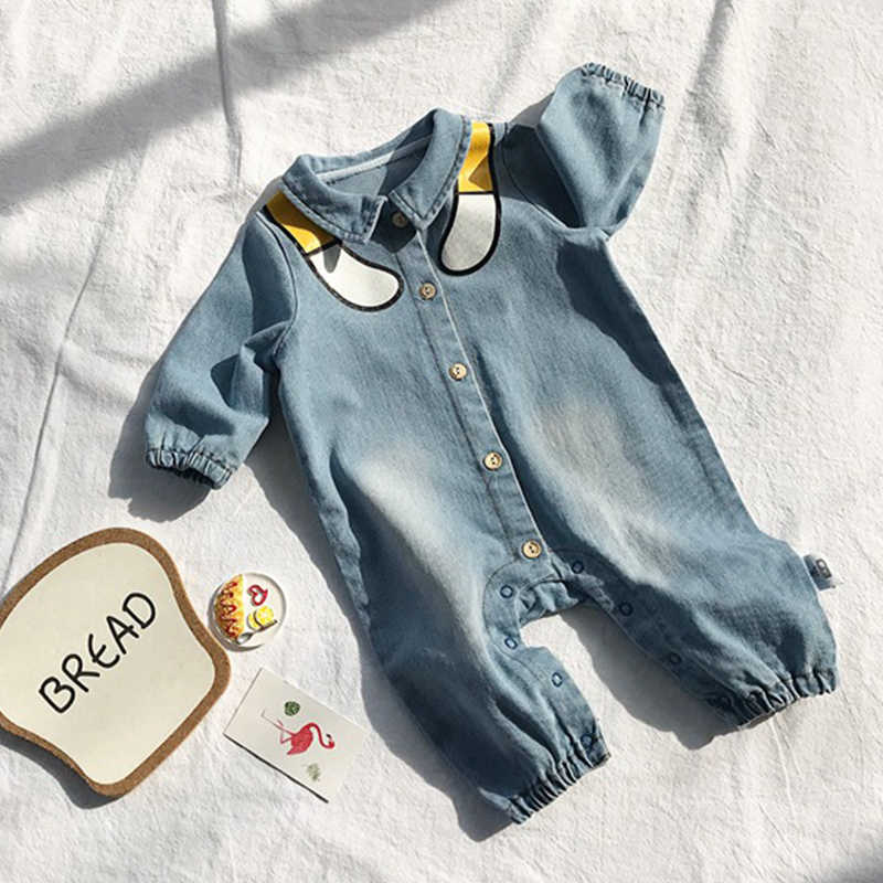 6b774bf8f ... Funny Denim Baby Rompers Infant Clothes Newborn Jumpsuit baby boy girl  romper Costume Cowboy Fashion pagliaccetto ...