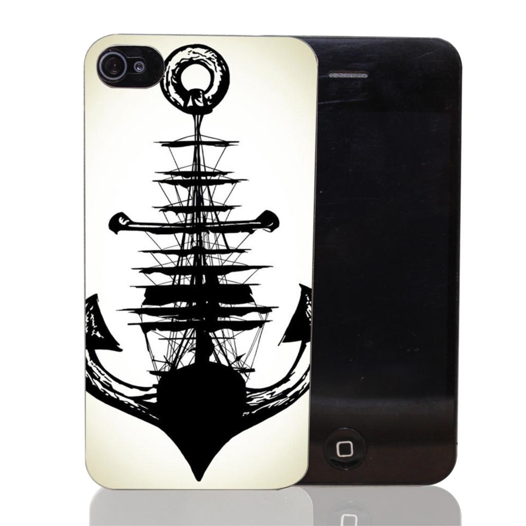 519-HOP Sailing Ship Anchor Style Transparent Case Cover for iPhone 4 4s 5 5s 5c 6 6s plus 7 7 Plus