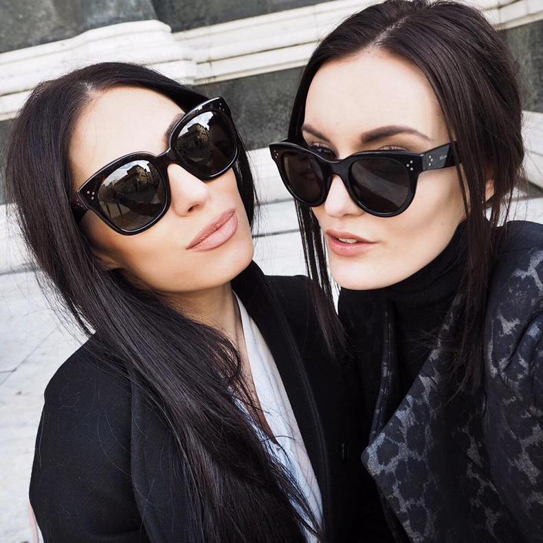 JackJad Mode Frauen NEUE AUDREY Stil Cat Eye Drei Punkte ...