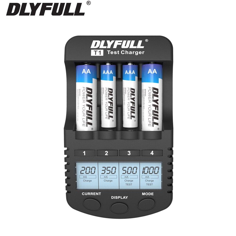 AAA batterie ladegerät mit Aktualisieren Test Entladung LCD display für nimh nicd AA AAA Akkus carregador de pilhas