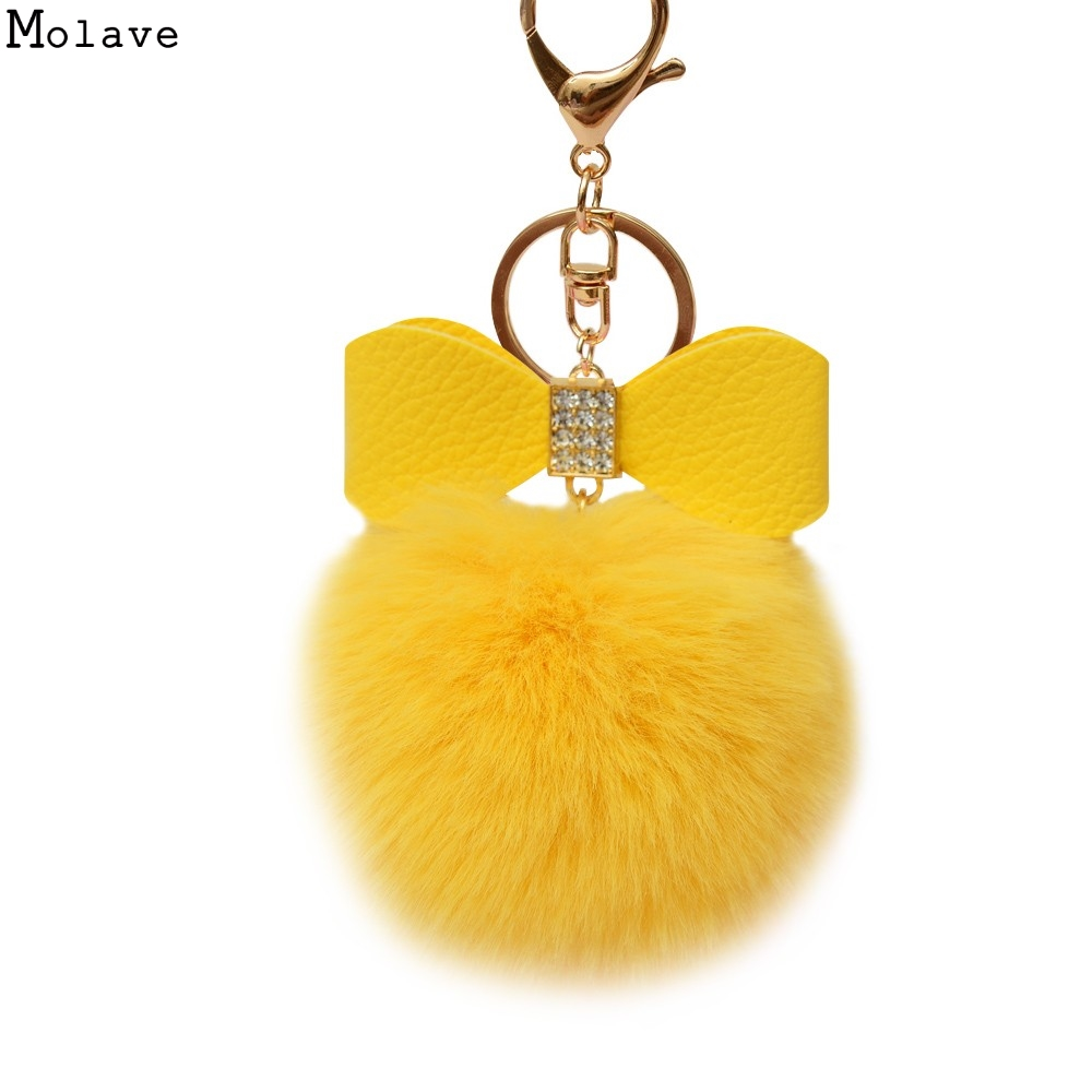 Pom Pom Fur key wallets Artificial Fur Ball Car Key bag women bag Key wallets For Bag Accessories Pendant Ja11 цена