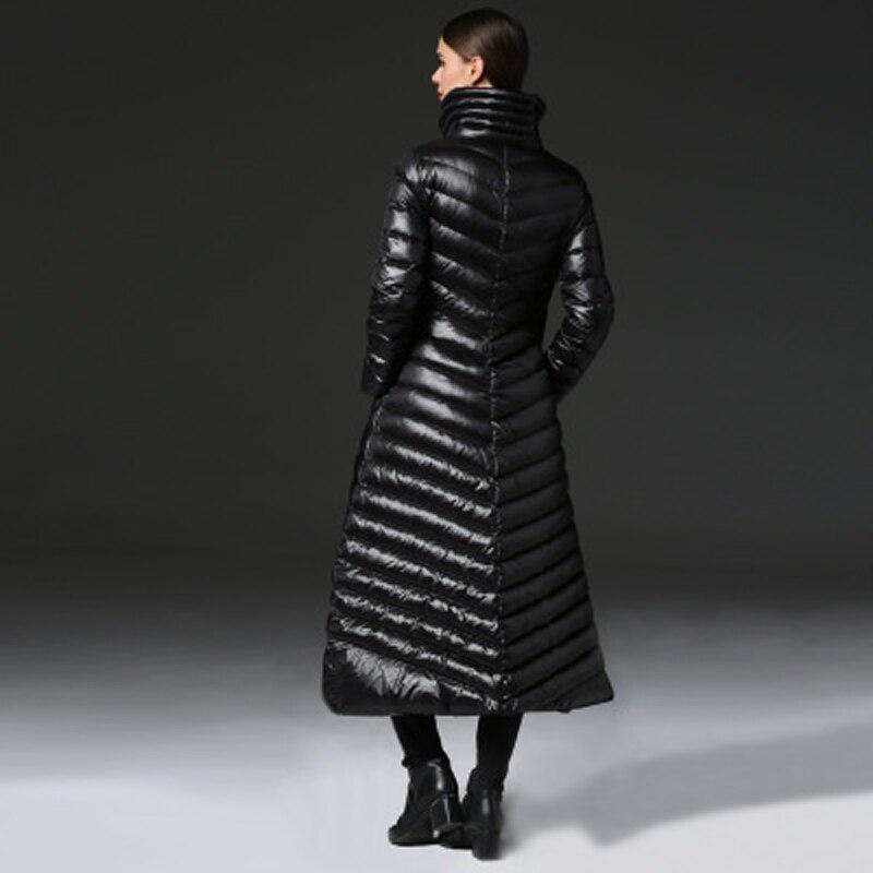 100 Qualité Parkas Chaud Long Pleine Bateau Manteau Veste Duvet Canard De Haute Libre Vêtir Softfox Douille Femmes Black D'hiver qZBX4qw