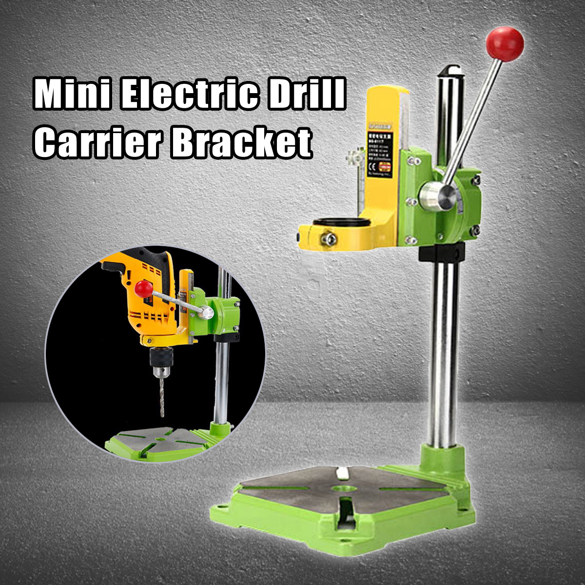 90 Degree Mini Electric Drill Carrier Bracket Electric Rotating Fixed Frame Bench Drill Stand Press Power Tool Accessories