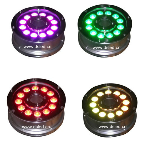 Free shipping ! 6pcs/set,IP68,36W RGB LED Fountain light,RGB underwater LED light,12*3W RGB 3in1 ,24V DC, DS-10-14-36W-RGB ip65 ce good quality high power 36w rgb led wall washer rgb led wash light 12 3w rgb 3in1 24vdc ds t21a 36w rgb 50cm pc