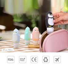 1pc Silicone Penguin Bottles  Packing Press Bottle For Outdoor Travel Shampoo Bath Small Containers 90ml Dropshipping