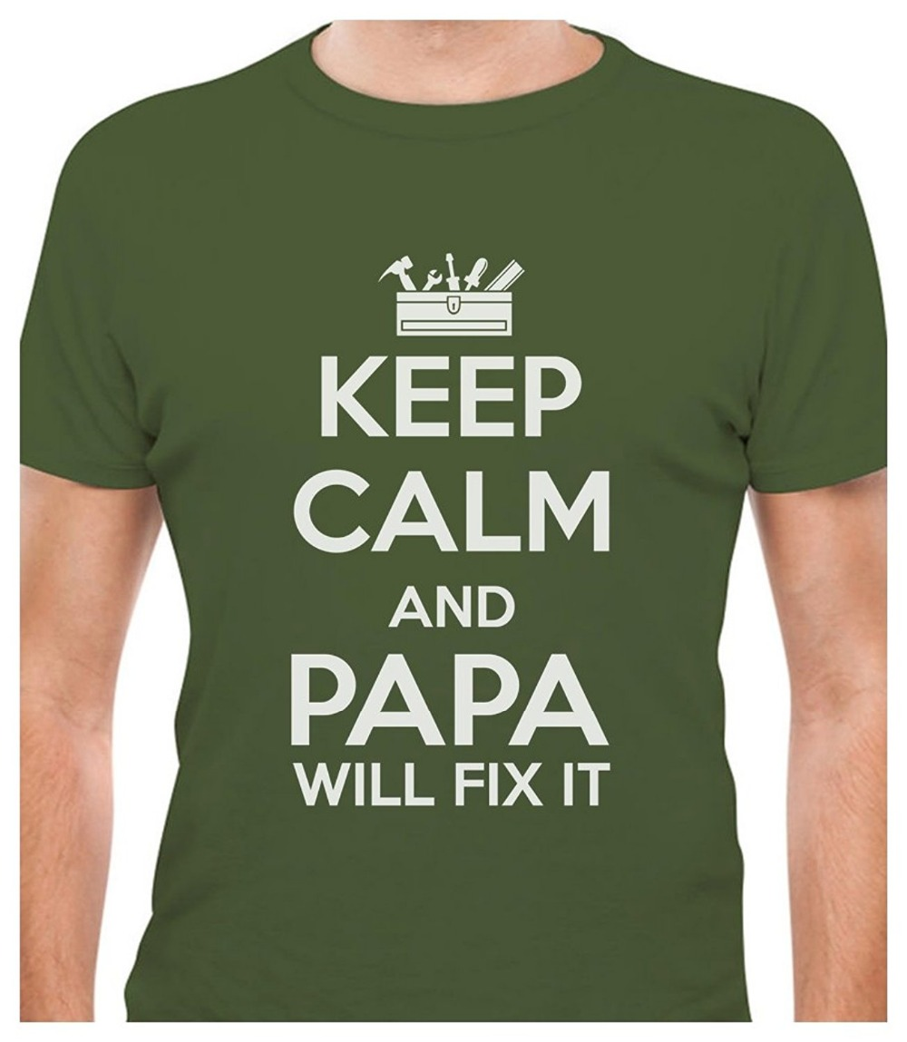 Design your own t shirt good quality - Black Friday Only4u Design Your Own T Shirt Men S O Neck Keep Calm And Papa Will Fix It Short Sleeve Best Friend Shirts