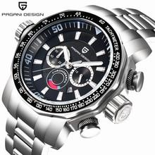 Uhren Männer Luxusmarke PAGANI DESIGN Sportuhr Dive Militäruhren Große Zifferblatt Multifunktions Quarz Armbanduhr reloj hombre