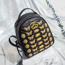 2018 Women Shoulder SchoolBag Rucksack For Girls Black Fashion PU Backpacks Ladies Travel Backpack Bags Bolsas Mochilas BP1881