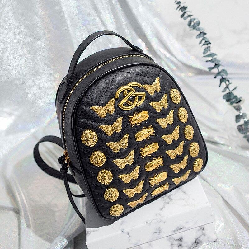 2018 frauen Schulter Schul Rucksack Für Mädchen Schwarz Mode PU Rucksäcke Damen Reise Rucksack Taschen Bolsas Mochilas BP1881-in Rucksäcke aus Gepäck & Taschen bei  Gruppe 1