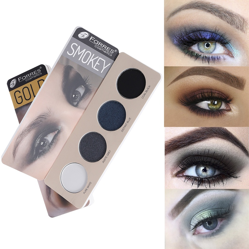 New 4 Color Eye Shadow Waterproof Smudge-proof Colorfast Eyeshadow Palette Beauty Makeup Cosmetic
