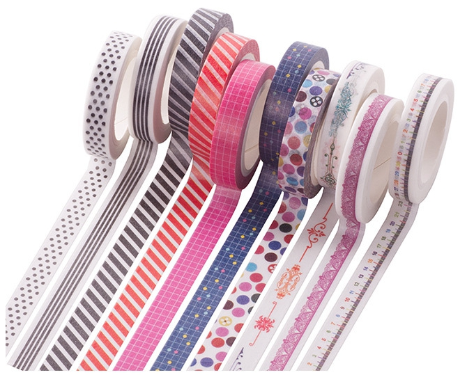 AB0-8mm*7m red world colorful dot washi masking adhesive decorative tape(1piece) aagu 1pc 8mm 7m label stationery red black dot stripe washi tape decorative masking tape lovely high viscosity paper sticker