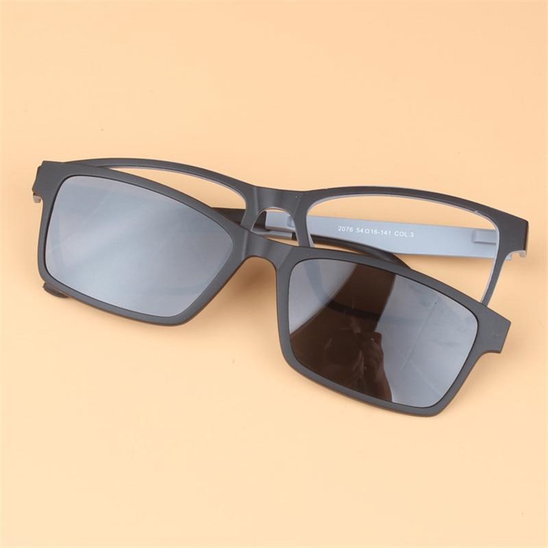 df7d42b96732 KESMALL Fashion Eyeglasses Frame Magnetic Clip On Sun Glasses 2 In 1 Women  Men Myopia Glasses Frames Clip On Sunglasses YJ961-in Sunglasses from  Apparel ...