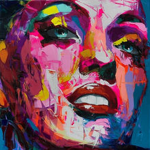 Palette knife painting portrait Palette knife Face Oil painting Impasto figure on canvas Hand painted Francoise Nielly