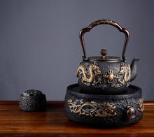 1.3L uncoated gilding handmade customized product Japanese yixing samovar cast iron teapot kettle dahongpao puer green tea