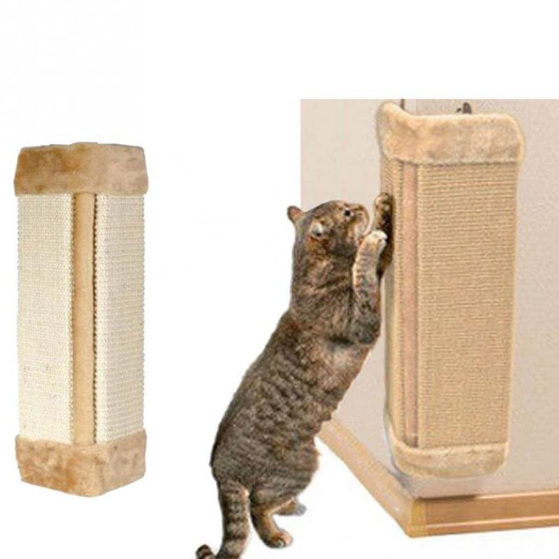 Pet Cat Scratcher Board Kitten Corner Wall Hanging Mat Scratching Protective Post Board Cat Toy
