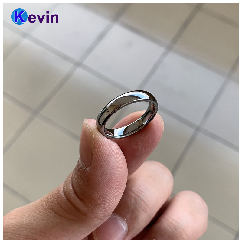Classic Ring Silver Tungsten Wedding Ring For Men And Women Band 6MM