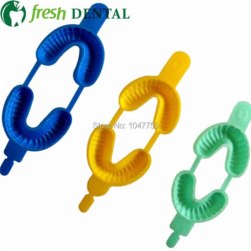300PCS Dental Trays for Floride dental materials Fluoride Foam Impression Tray fluoride foam denture 3 Sizes