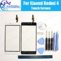 Para xiaomi redmi 4 digitador da tela de toque 100% novo de alta qualidade digitador de vidro do painel de toque de substituição para xiaomi redmi 4