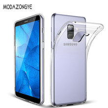 Samsung Galaxy için A6 2018 Kılıf Samsung A6 2018 Vaka Şeffaf yumuşak Kılıf Samsung Galaxy A6 Için Bir 6 2018 Silikon Telefon va...
