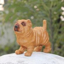 brown colour imitated SharPei dog