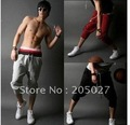 Freeshipping 2 pieces a lot with a suprising gift!!!!! Korean men's casual pants white ,black, grey, red  s, m, l, xl, xxl