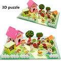 Монтессори Игрушки Happy Farm 3D Деревянные Головоломки Детские Игрушки Развивающие Игрушки для Детей Деревянные Головоломки Игрушки Игры Контейнеров Семьи Зоопарке