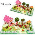 Montessori Toys Happy Farm 3D Wooden Puzzles Kids Toys Educational Toys Children Wooden Puzzle Toy Games Containers Zoo Family