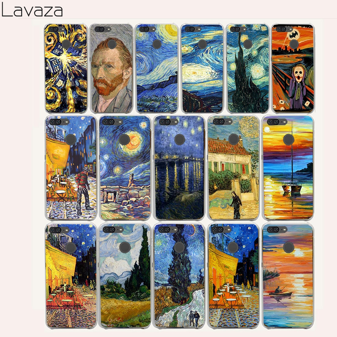 Lavaza 995CA Doctor who van gogh Art Hard Case for Huawei Y7 Y6 Y5 Y3 2017 G7 Y3II Y5II Y6II Honor 9 8 lite 6a 7x