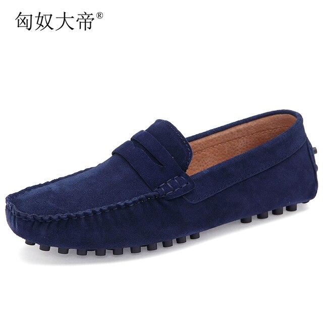 אופנה עור & זמש גברים נעליים יומיומיות מותג גברים סירת נעלי להחליק על נעלי עור קיץ גברים נעליים שטוחות 2018 מוקסינים