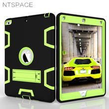 Armor Shockproof Cases Cover For Apple New iPad 9.7 inch 2017 2018 Heavy Duty Full Body Protective Case PC + Silicone Hard