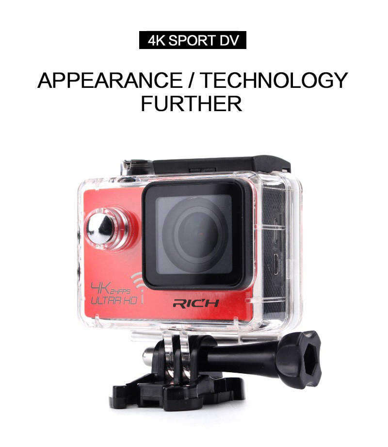 DHL 10pcs/lot Action Camera Remote Ultra 4K 24fps Wifi 16Mp Video Camera 170 Degree Lens Cam go waterproof pro Sport camera soocoo 360 degree action video camera wifi 4k 24fps 2 7k 30fps ultra hd sport driving 360 camera with remote control