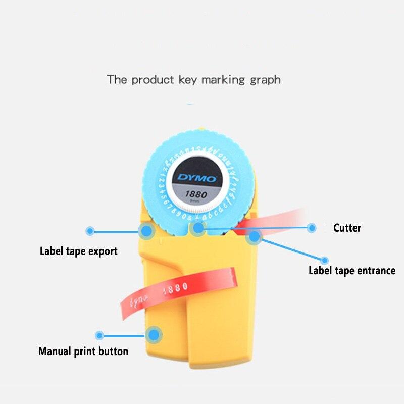9 мм 3D DIY ручной производитель этикеток для Dymo 1880 тиснение пластиковых пвх этикеток ручной принтер для печати этикеток, бесплатная доставка
