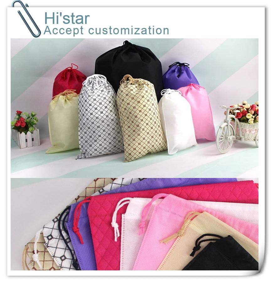 Travel Storage Bag Shoe Pocket Storage Organize Bag Non-woven Fabric Draw Pocket Drawstring Bags Toiletry BToiletry Bag C