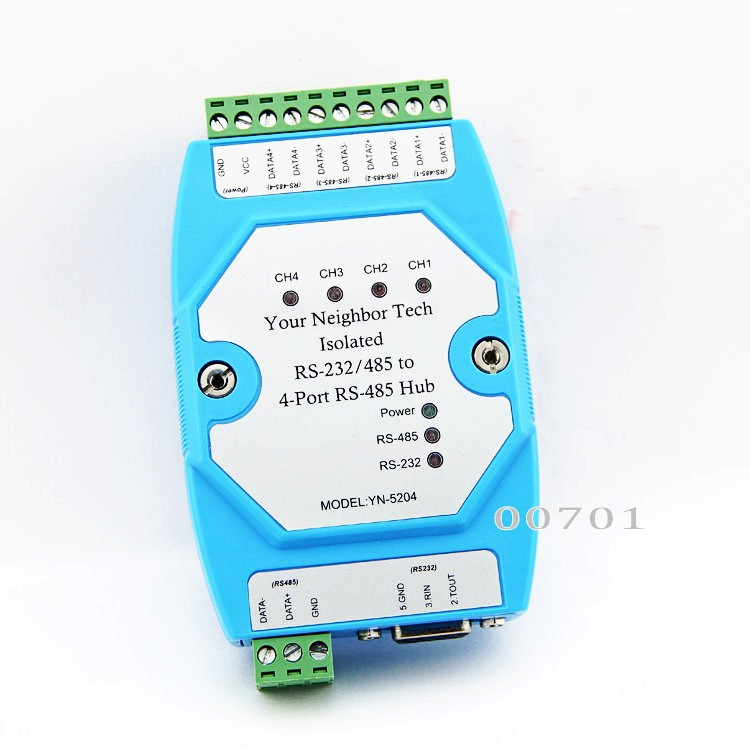 Free Shipping Industrial Isolated Rs-232/rs485 To 4 Port Rs-485 Hub Ethernet Module Splitter Computer Cables & Connectors