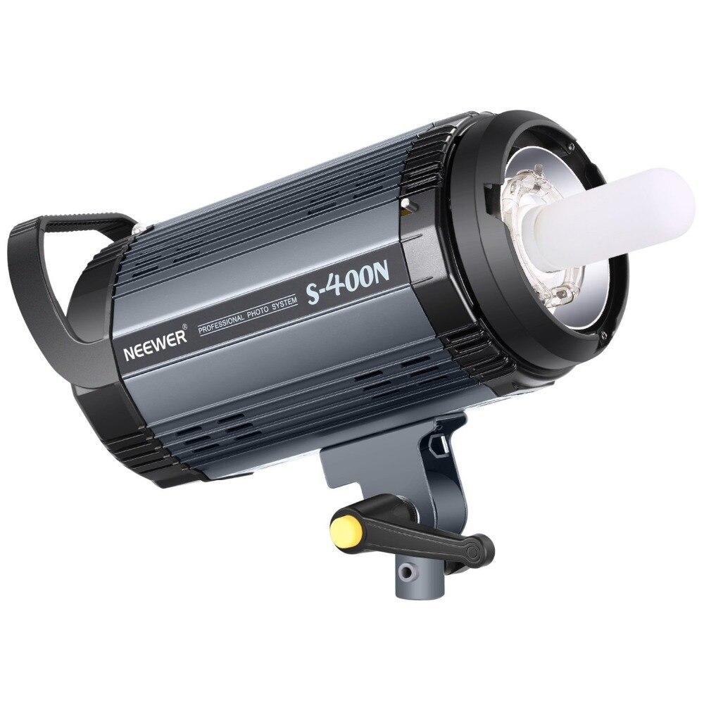 Neewer Luz do Flash Strobe Monolight 400W GN60 5600K com Modelagem Lâmpada para Estúdio Fotografia Modelo de Localização (S400N) UE/EUA Plug
