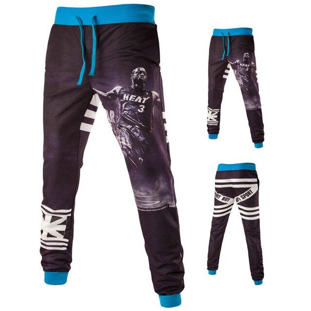 Drawstring Штаны Мужчины Фитнес Хип-Хоп Одежды Брюки-Карго Случайные Бегунов slim fit 3D Отпечатано мужской брюки D039