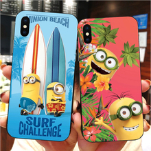 Cute cartoon yellow minions case soft silicone TPU phone cover for iPhone MAX XR XS X10 5 5S 5SE 6 6S 6 6SPlus 7 8 7 8Plus ufc conor mcgregor the king soft tpu silicone cover phone case for iphone 6splus 7plus 8plus se 5 5s 6 6s 7 8 max xr xs x10
