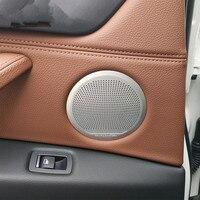 4PCS B O HiFi Audio Styling Stainless Steel Trim Car Door Loudspeaker Cover Sticker For BMW