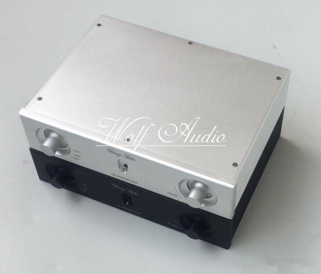 Neue Silber Und Schwarz 2606A Full Aluminium Chassis Endstufe Fall Vorverstärker Shell DIY Audio Amp Box