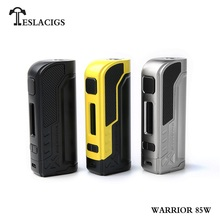 Original Warrior 85W Box Mod Temprature Control Vape Mod  ss/black/yellow Colors Available for Tesla Warrior 85W Kit