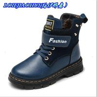 Hot Sale Autumn Winter Warm Genuine Leather Boots High Quality Children Snow Boots Boys Boots Comfortable